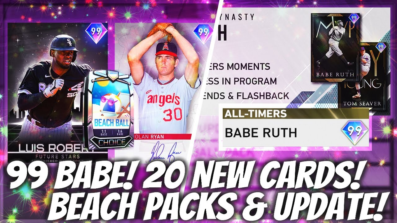 99 BABE! HUGE All-Timers Program & Beach Ball Packs! 20 NEW DIAMONDS! MLB The Show 20