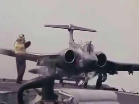 Planes landing, Ark Royal 1976