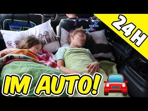 24h EINGESPERRT im Auto 😱 Heiß, Hunger, Schwitzen! Lulu & Leon - Family and Fun