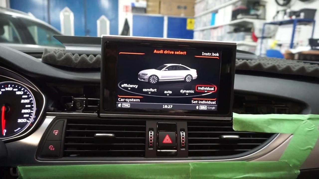 Audi A6, A7 MIB 2 eftermonterat av OEM eftermontering
