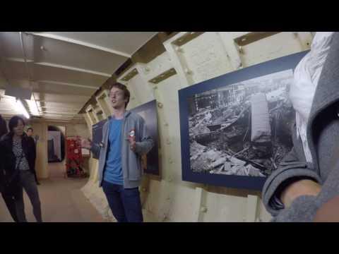Underground Deep Level Tunnel. London, Clapham South.  4K