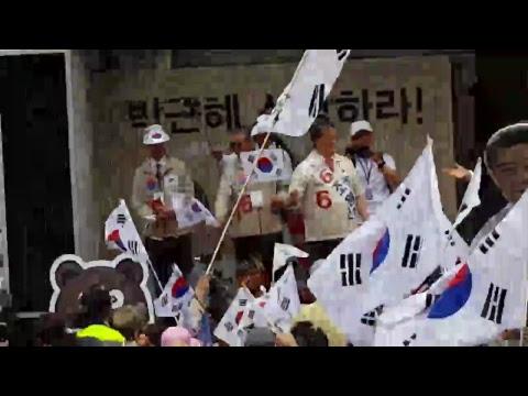 조원진 후보 서울역 유세