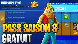 FREE COMBAT PASS FOR SAISON 8 on Fortnite Battle Royale!