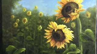 paint with kevin hill field of sunflowers