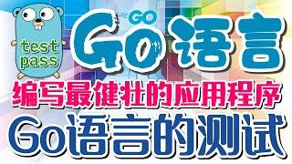 【Go语言中文入门教学】Go语言的测试 - test - golang p.40【1级会员】