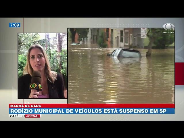 Chuva forte bloqueia ruas e avenidas da Grande SP