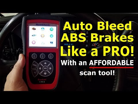 Auto Bleed ABS brakes Like a PRO with this affordable scan tool.