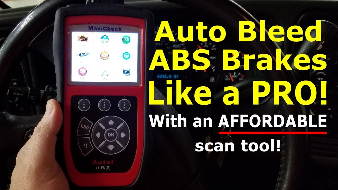 Auto Bleed ABS brakes Like a PRO with this affordable scan tool