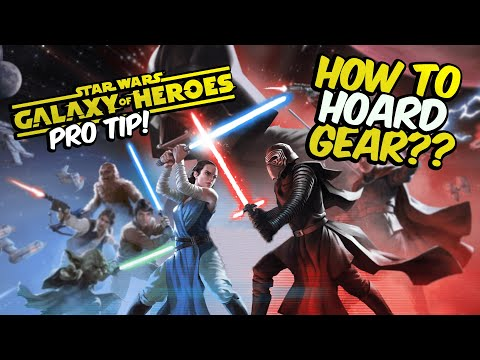 Star Wars: Galaxy of Heroes PRO TIP Finding ALL Gear Requirements for ANY Character