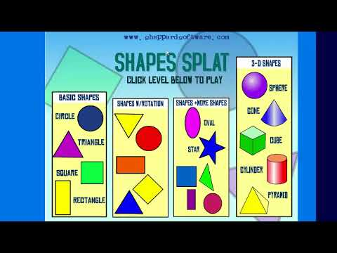 Shapes Splat - Early Geometry Math Game - Sheppard Software