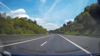 Dashcam: Fahrt von Arlon (B) nach Camping Kockelscheuer (L) - 37km
