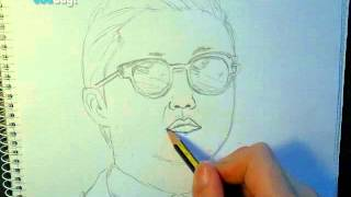 PSY - Gangnam Style (How to Draw PSY)