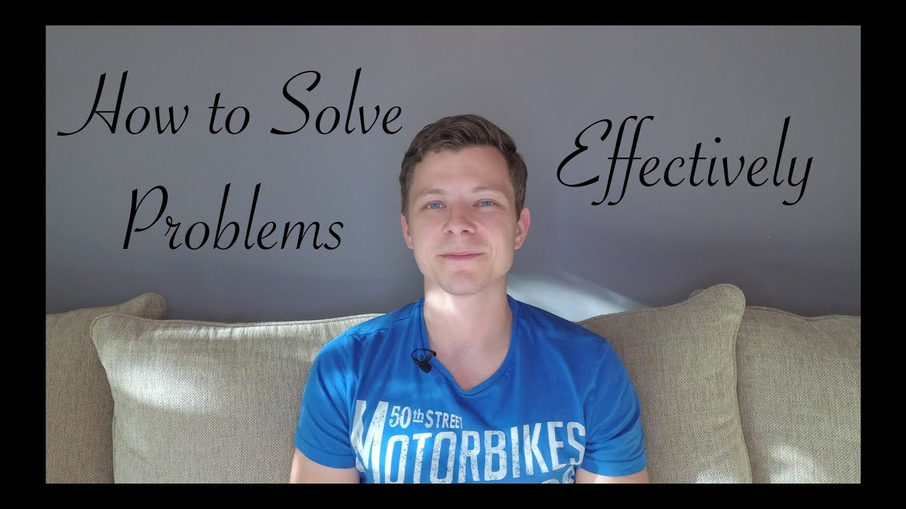 how to problem solve effectively