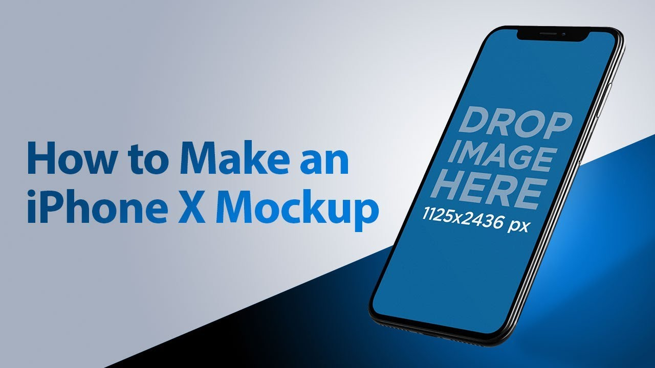 How to Make an iPhone X Mockup
