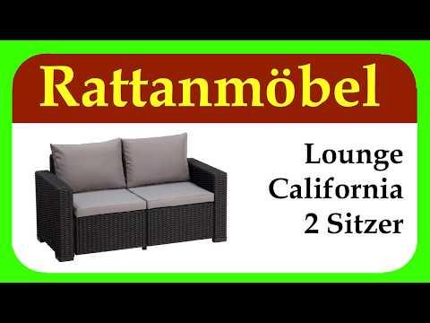Lounge California Sofa| schöne Rattanmöbel für Deinen Garten