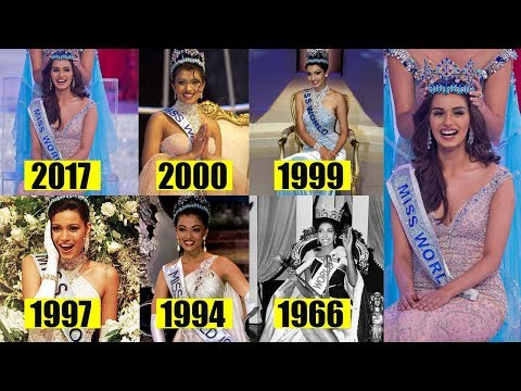 6 Beautiful ladies from India Who won Miss world crown 2017 Priyanka Chopra to Manushi Chillar
