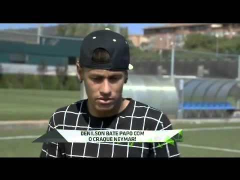 Denilson entrevista Neymar na espanha 2015