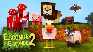 Minecraft: VIRAMOS ANIMAIS! (Esconde-Esconde 2)