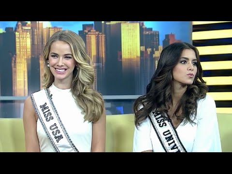 Interview FOX with Miss Universe Paulina Vega & Miss USA Olivia Jordan