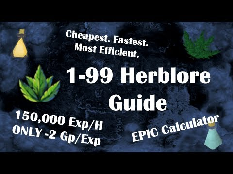 Lvl 1 99 Herblore Guide