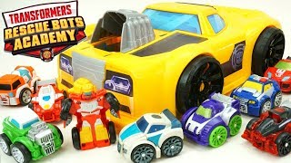 Transformers Rescue Bots Academy Flip Racers Huge Bumblebee Car Track Tower Case Hot Shot