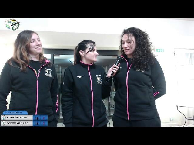 interviste dii Chiara dopo Partita