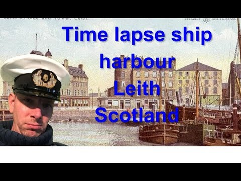 Life of a seafarer / seaman / sailor at sea timelapse loading ship port Leith