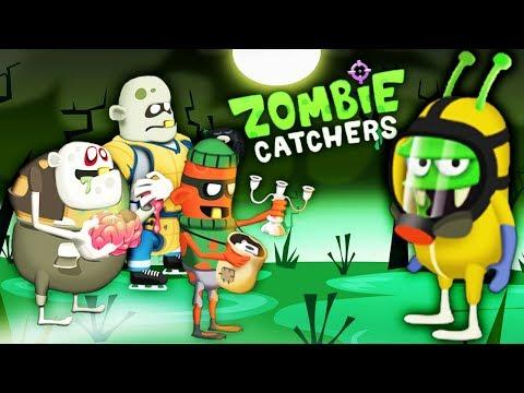 ПОЙМАЛ 100 ЗОМБИ и ПОЛУЧИЛ НОВОЕ ЗВАНИЕ! Мультяшная игра про ОХОТНИКОВ на ЗОМБИ Zombie Catchers
