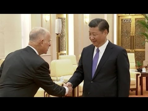 California governor meets Chinese President