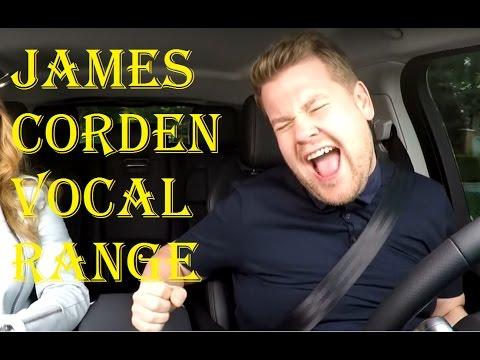 James Corden Full Vocal Range in Carpool Karaoke (G2-G#5)