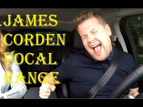 James Corden Full Vocal Range in Carpool Karaoke (G2-G#5)