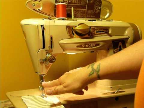 NIFTYTHRIFTYGIRL SINGER 40A SLANT O MATIC ROCKETEER SEWING MACHINE Custom Singer Sewing Machine 500a Manual