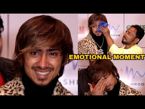 Adnan Shaikh BREAKDOWN in TEARS in front of Dad | EMOTIONAL Moment | Badnaam Song Launch