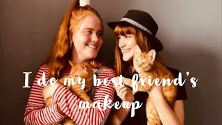 // i do my best friends makeup (ginger edition)//