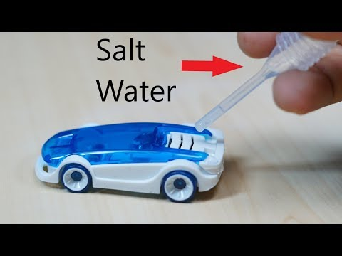 How to run salt water power car