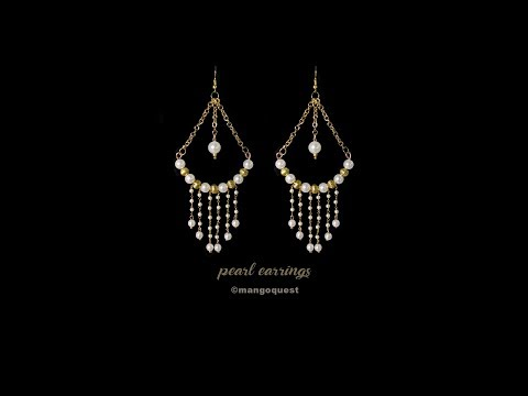 Pearl Earrings Tutorial Fashion Jewelry DIY