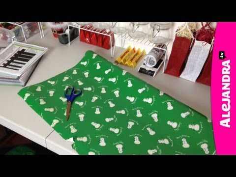 Holiday Gift Wrapping Station for Christmas