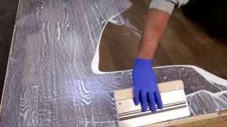 Παλαίωση ξύλου παρκέ Τεχνοτροπία βαφής αναπαλαίωση LOBA ActiveColor 2K ImpactOil 3D εφέ