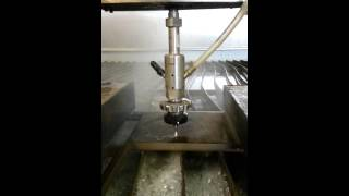 cutting bullet proof steel with water