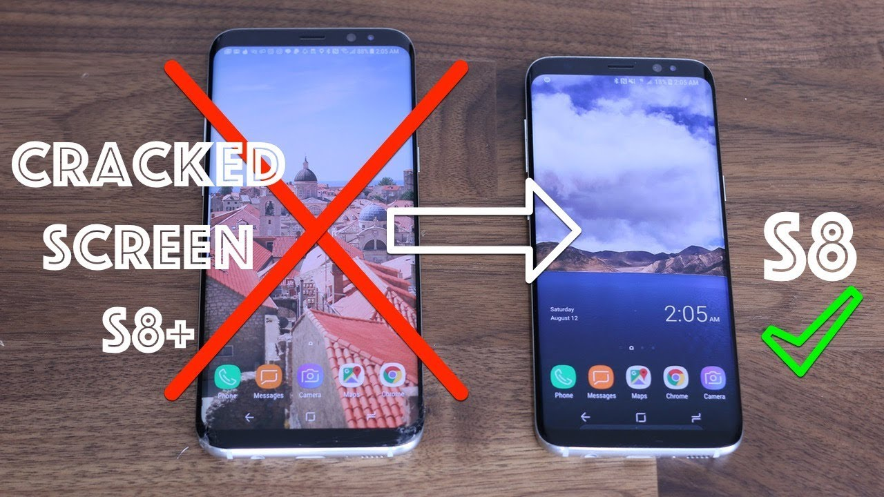 Cracked The Screen Of My Galaxy S8 Then Switched To