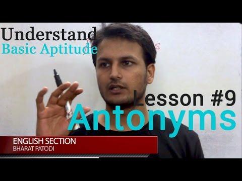 Antonym Theory (Aptitude Test) Video l Pyoopel.com