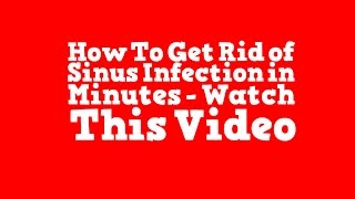 Natural Antibiotics Sinus Infection Sinusitis