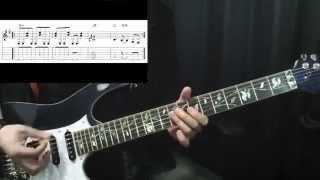 アルカトラス時代のイングヴェイ風のロックギターリフです。 タブ譜0:44...