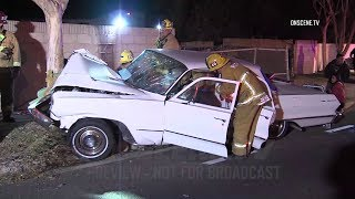 Simi Valley: DUI Crash Involving Classic Car Traps Passenger