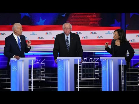 Sen. Kamala Harris and Joe Biden spar over record on race