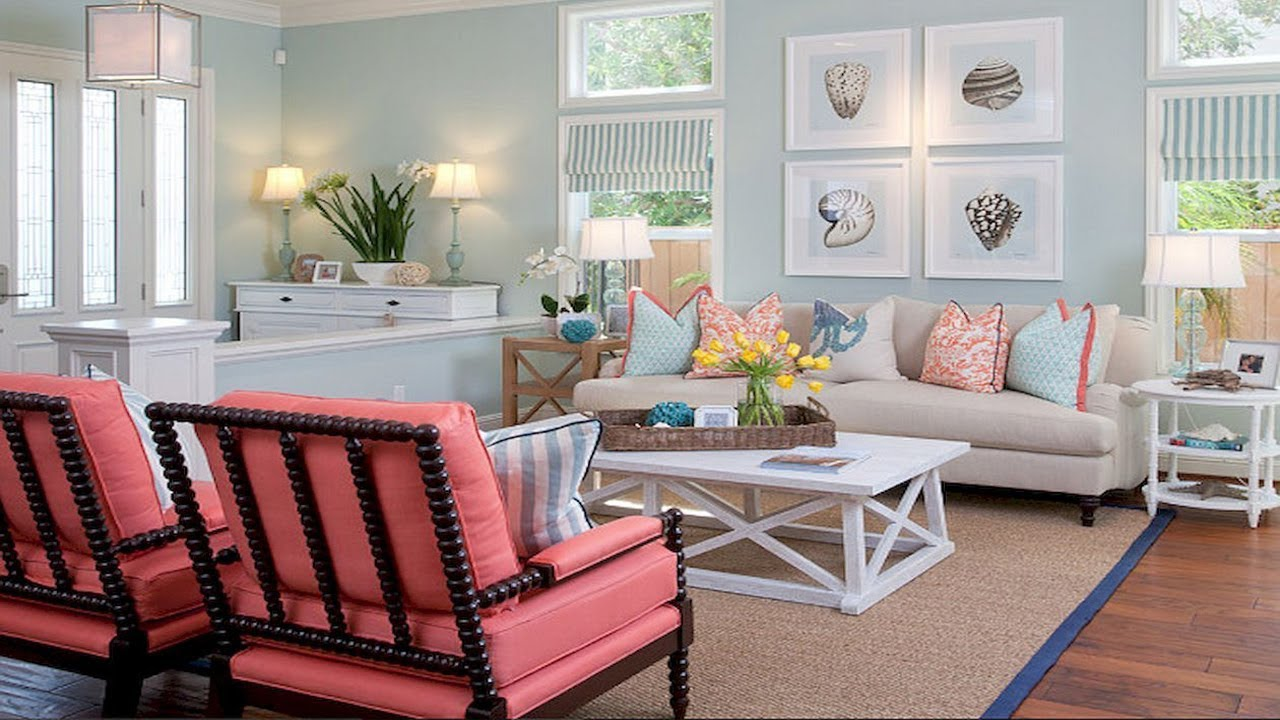 Coastal Living Room Ideas Pictures Display Cabinets Designs Beach House Decor