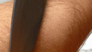 Batería de celular explota al picarla con un cuchillo (Batería de litio)