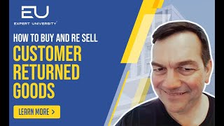 How to Buy and Resell Customer Returned Goods On Amazon By Todd Snively Amazon | Ecomm Elite