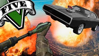 GTA V Online: RPG vs DODGE CHARGER DO GTA V - Tj