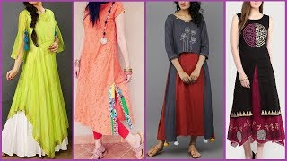 Latest Indian / Pakistani Dresses Designs | Beautiful colorful Kurti / Kurta designs for Girls 2017